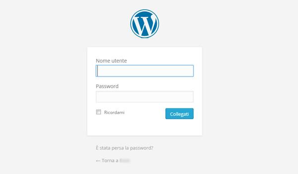 Il login di WordPress