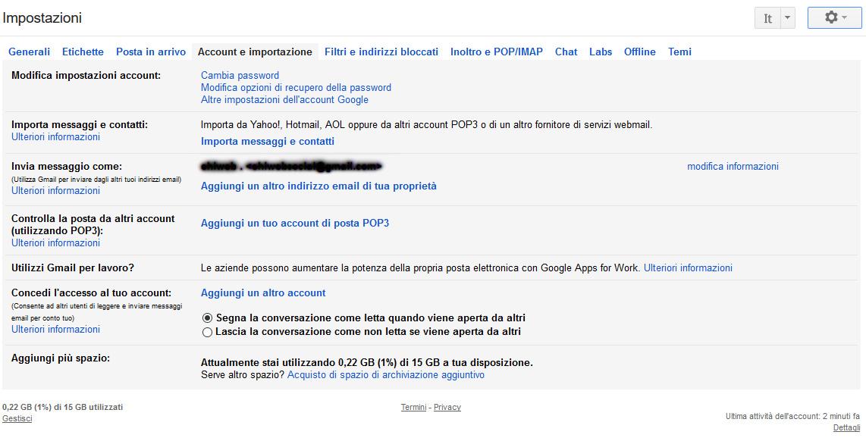gmail aggiungere un altro account
