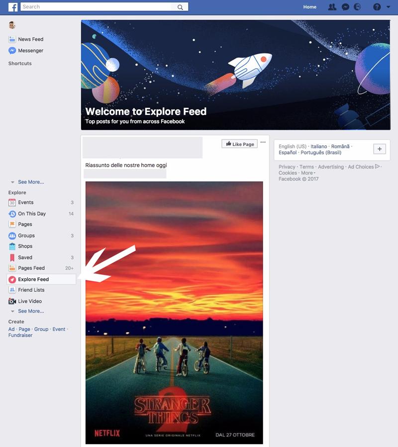 feed esplora facebook